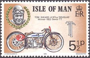 Isle of Man # 66 mnh ~ 5½p Motorcycle and Race Driver