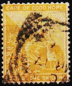 Cape of Good Hope. 1882 1s S.G.67 Fine Used
