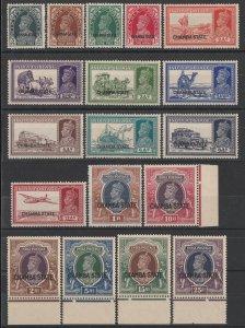 INDIAN STATES CHAMBA : 1938 CHAMBA STATE KGVI set 3p-25R. MNH **. RARE!