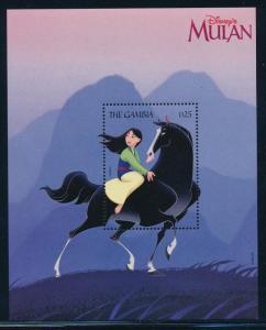 Gambia MNH S/S 2046 Mulan Disney 1998