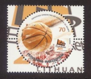 Macedonia Sc# 572 MNH European Basketball Championships 2011