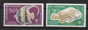 Comoro Islands C23-24 Fish set MNH