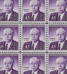 1960 - ROBERT A. TAFT - #1161 Full Mint -MNH- Sheet of 70 Postage Stamps