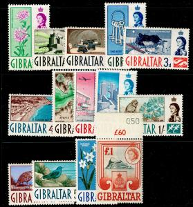 GIBRALTAR SG160-173, COMPLETE SET, NH MINT. Cat £80.