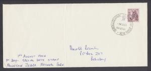 South Africa Sc 244, 2c Zebra on cover, 1964 MOUNTAIN ZEBRA PARK, CRADOCK cancel