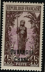 Ubangi-Shari Sc #34 F-VF Mint OG French Colonies are Hot!