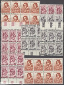 COLLECTION LOT OF #1112 ITALY 46 MNH STAMPS IN BLOCKS & STRIPS 1960 CLEARANCE