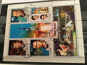 Ras Al Khaima Moon shot cancelled stamps sheet R21653