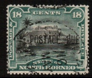 North Borneo Scott J7b - SG D10, 1895 Postage Due 18c used