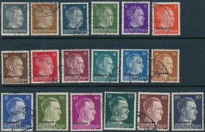Stamp Germany Ostland Mi 1-18 Set WWII Hitler USSR Russia Stalin Used