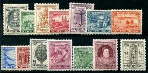 HERRICKSTAMP NEWFOUNDLAND Sc.# 212-25 1933 Complete LH