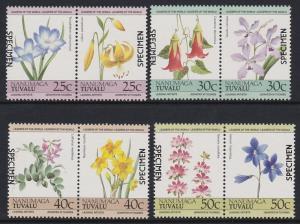 Tuvalu Nanumaga 1985 Flower Specimen MNH