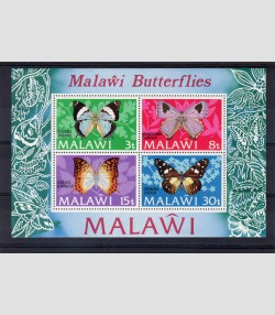 Malawi 1973 BUTTERFLIES s/s Perforated mnh.vf