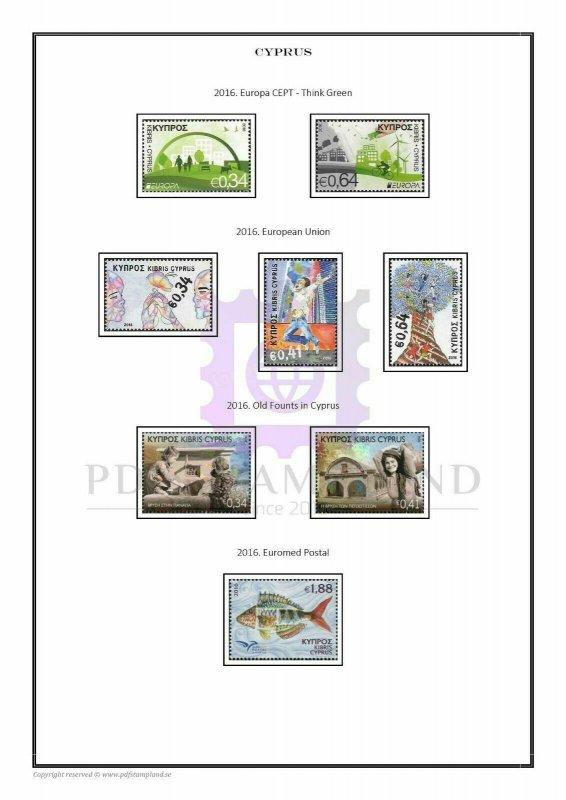 Islands of the world  1851-2020 (11 albums) PDF (DIGITAL)  STAMP ALBUM PAGES