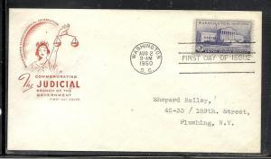 US #991-9 Capital HOF cachet addressed