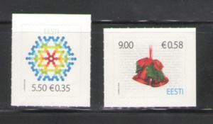Estonia Sc 628-9 2009 Christmas stamps mint NH