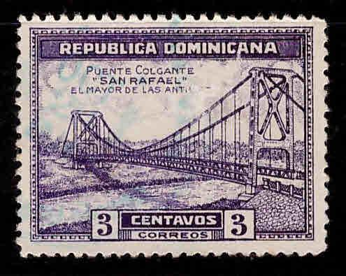 Dominican Republic Scott 291 used bridge stamp