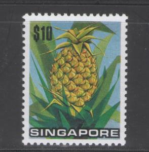 Singapore 1973 Pineapple $10 Scott # 201 MH