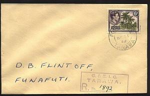 GILBERT & ELLICE IS 1949 Registered cover ex TARAWA........................93299