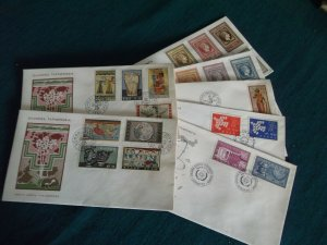 Greece 1961 year set official FDC's.