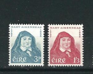 Ireland 167-68 Mary Aikenhead MNH VF 1958 SCV $21.50