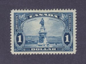 Canada Champlain Stamp #229-$1.00 Champlain Monument MH VF Guide Value = $80.00