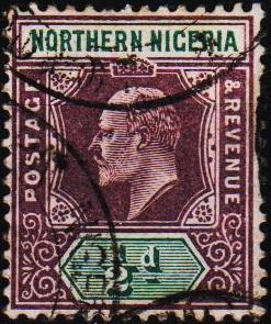 Nigeria(Northern). 1902 1/2d S.G.10  Fine Used