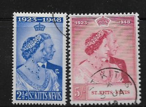 ST. KITTS & NEVIS,93-94, USED,SILVER WEDDING ISSUE