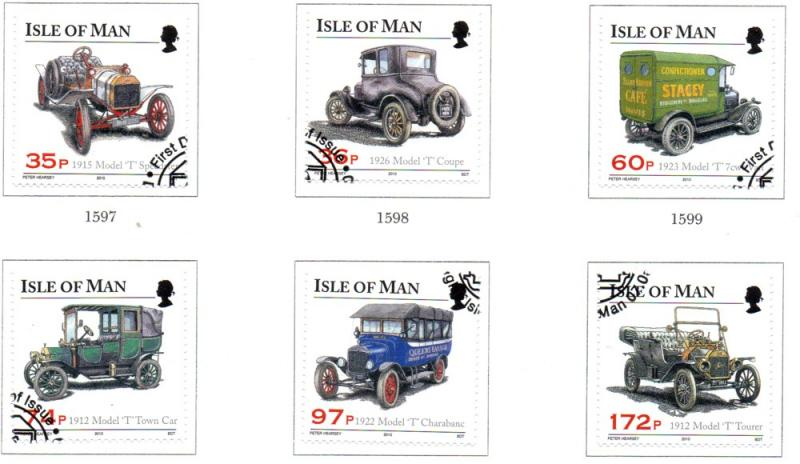 Isle of Man Sc 1375-0 2010 Model T Register stamp set used