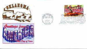 US FDC #3731 Greetings From Oklahoma, Artmaster (6734)