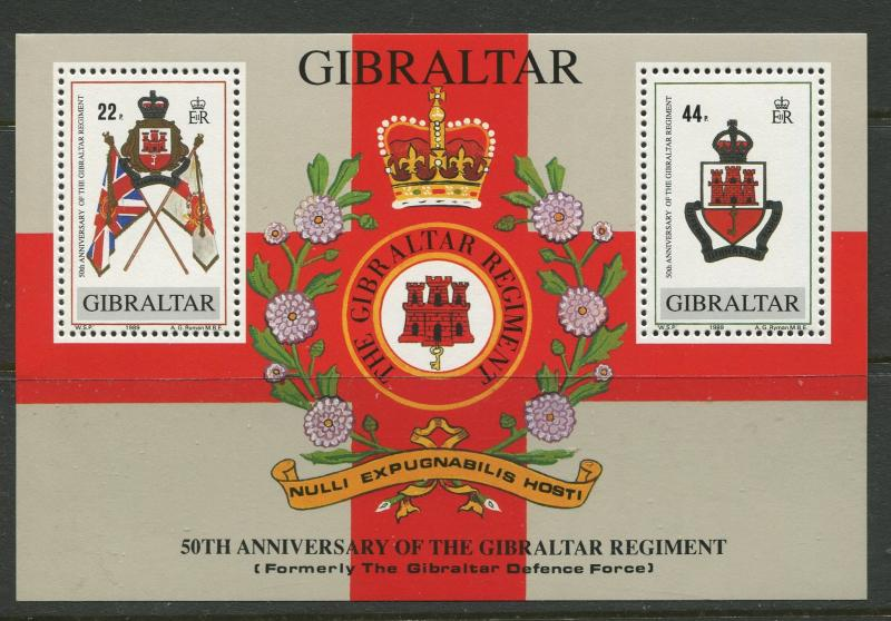 Gibraltar - Scott 548 - General Issue -1989- MNH - Mini Sheet 2 Stamps