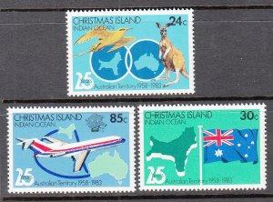 Christmas Island 142-144 MNH VF