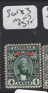 ZANZIBAR  (P0205B)  YOUNG SULTAN 4A  SG 183    MOG