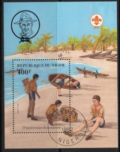 NIGER SGMS901 1982 75th ANNIV OF BOY SCOUT MOVEMENT FINE USED