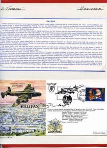 RAF(PandP)4 Handley Page Halifax Signed by Designed Tony Theobald