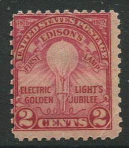 STAMP STATIOM PERTH USA #654 MLH 1929  CV$0.65.