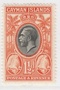 British Colony Cayman Islands 1935 1 1/2d MH* Stamp A22P19F8947