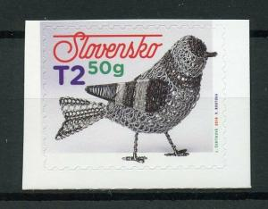 Slovakia 2019 MNH Easter Tinsmithing 1v S/A Set Arts & Crafts Birds Stamps