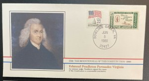 US #1144,2115 On Cover - Bicentennial of Constitution 1787-1987 [BIC55]