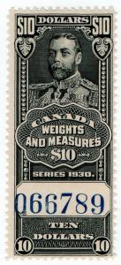 (I.B) Canada Revenue : Weights & Measures $10