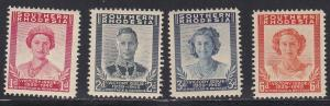 Southern Rhodesia # 67-70 Peace Issue, some acid staining on backs NH 1/3 Cat.