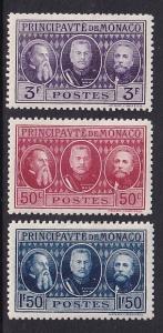 Monaco  #100-102   MH  Princes