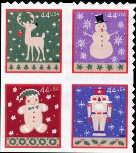 2009 44c Winter Holidays, Block of 4 Scott 4429-32 Mint F/VF NH