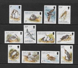 BIRDS - SOUTH GEORGIA #236-47    MNH