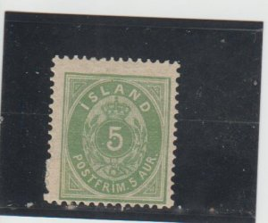 Iceland  Scott#  16  MH  (1882 Numeral)
