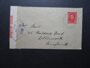 Australia 1943 Censor Cover to England - Z11532