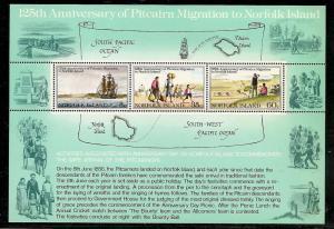 Norfolk Islands MNH S/S 279a Pitcairn Migration To Norfolk Island 1981