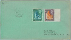 83427 - ST VINCENT - POSTAL HISTORY  -  COVER  to the USA 1947