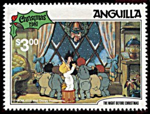 Anguilla 461, MNH, Disney The Night Before Christmas 1981