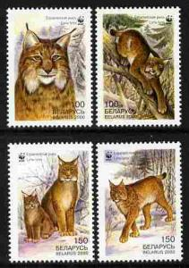 Belarus MNH 354-7 Lynx Animals WWF 2000